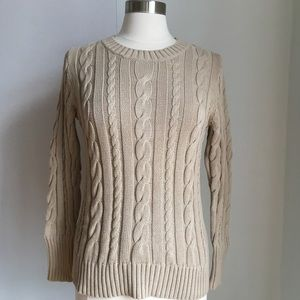 J.Crew Cotton Cable Knit Crewneck size Medium